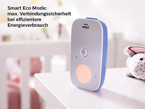 Philips Avent SCD501/00 Audio-Babyphone mit DECT-Technologie, Nachtlicht, Geräuschpegelanzeige,  weiß/blau - 3