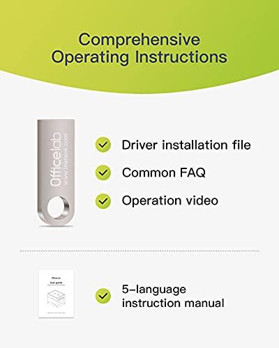 Officelab Impresora Thermica, Impresora Tickets Compatible con Papel Térmico de Recibos de 80mm y 58mm (3 1/8