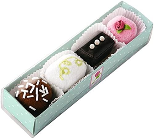 HABA Biofino Petit Fours - Set of 4 Fabric Treats Perfect for Tea Parties by HABA