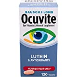 BAUSCH & LOMB OCUVITE with Lutein! 120...
