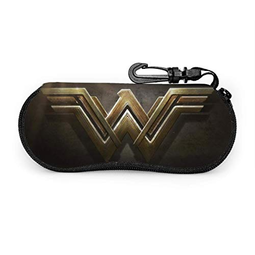 AOOEDM Wonder Woman Estuche para anteojos, estuche para gafas de sol con cremallera de viaje portátil, estuche para gafas, protector de bolsa