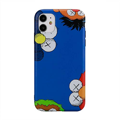 Hypebeast x Cartoon Inspired Phone Case with Full Protective Soft Grip Premium Silicone TPU Fashion Designer Cover Compatible with iPhone 7 Plus Case, iPhone 8 Plus Case (Blue)