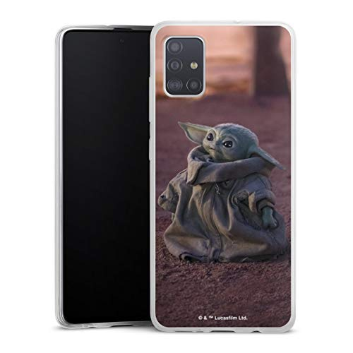 DeinDesign Slim Hülle extra dünn kompatibel mit Samsung Galaxy A51 Silikon Handyhülle transparent Hülle Star Wars The Child Baby Yoda