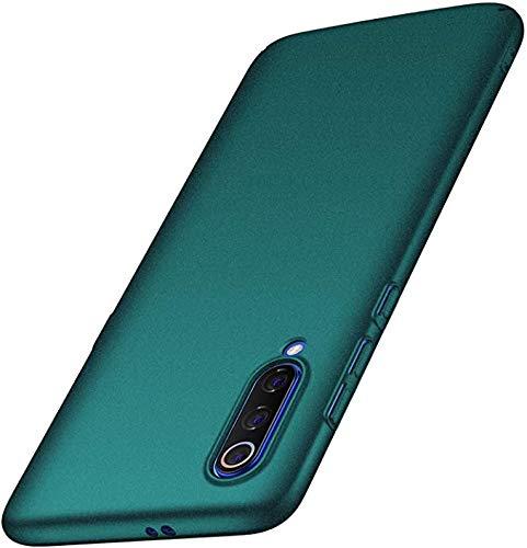 N+A Amosry Kompatibel mit Xiaomi Mi 9 Hülle, Slim Fit, Anti-Fall, Reibungswiderstand, Hard Hülle, für Xiaomi Mi 9 (Kies Grün)