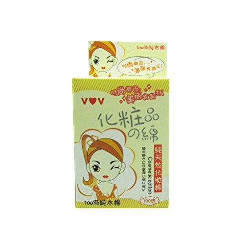 teng hong hui 100pcs / Set de Maquillaje Muchachas de Las Mujeres de la Almohadilla de algodón Facial de algodón hipoalergénico Soplo de Lavado de Limpieza del cojín del Maquillaje Wipe