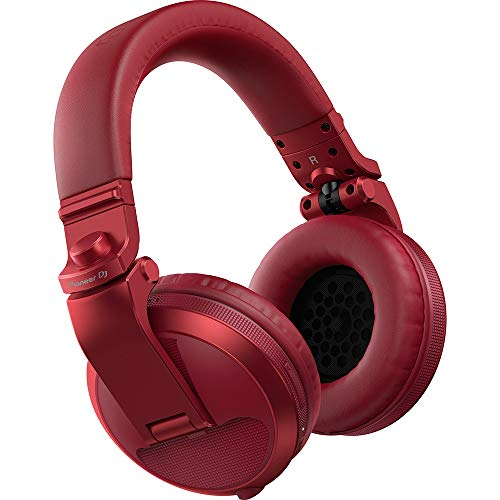 Pioneer DJ DJ Headphones, Red (HDJ-X5BT-R)
