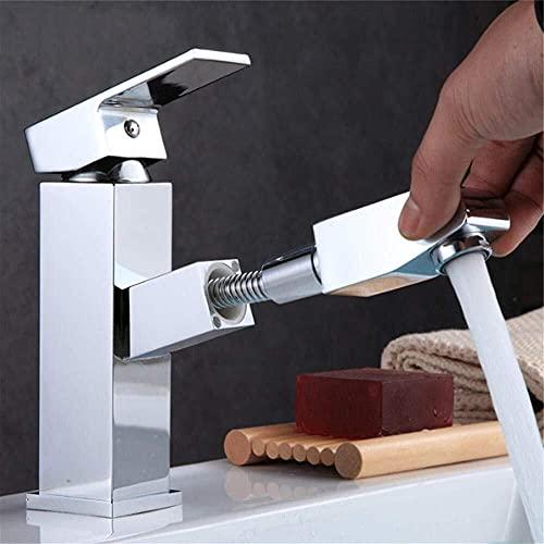 Grifo de baño Contador de baño, Grifo de lavabo de una sola manija grifo de grifo, Instalación caliente y fría grifo de latón