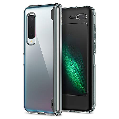Spigen Coque Galaxy Fold [Ultra Hybrid] Bumper Souple, Dos Rigide et Transparent, Protection - Air Cushion, Coque Housse Etui Compatible avec Samsung Galaxy Fold - Crystal Clear