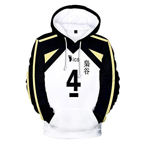 Coslike ハ イ キ ュ ー / Sudaderas con Capucha Haikyuu, Jersey de Voleibol Karasuno, Abrigo Deportivo Shoyo Hinata, Abrigo Sugawara koushi