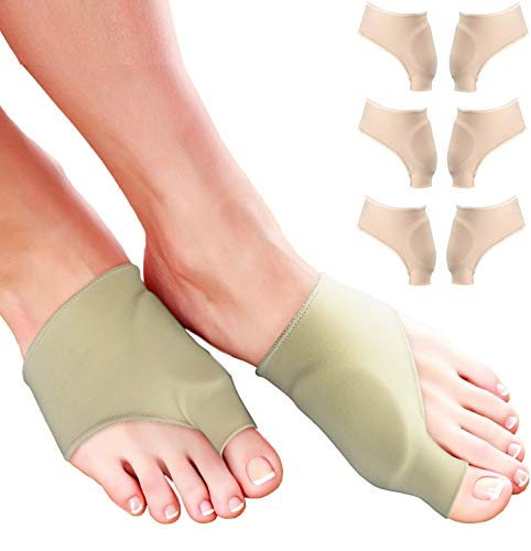 Bunion Pads for Bunion Relief - Comfortable Gel Bunion Cushion Sleeves for Bunion Protection. Hallux Valgus Big Toe Guard & Tailors Bunion Pad. Bunion Corrector for Women or Men Toes & Feet (Large)