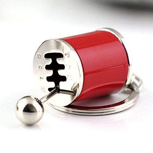 Tuqiang® 1PC Parkett Farbe Schlüsselanhänger Schlüssel Anhänger (rote)