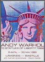ポスター アンディ ウォーホル 10 Statues of Liberty 1986 額装品 アルミ製ベーシックフレーム(ブラック)