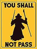 Radiancy Inc You Shall Not Pass - Placa decorativa para pared, diseño vintage con texto en inglés 'You Shall Not Pass'