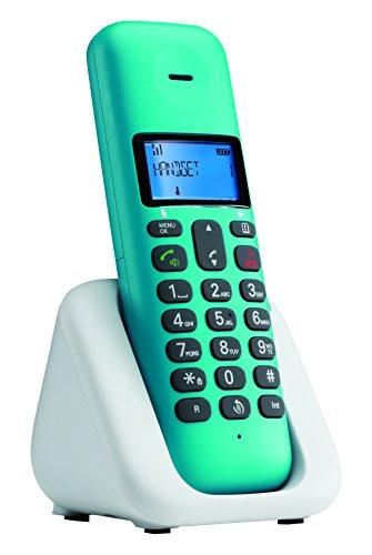 Motorola T301Plus Telefono Cordless, Turchese