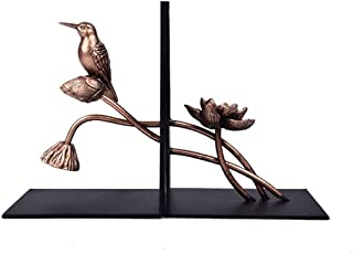 XIXIDIAN Bookend Supports, Ambipolar Decorative Bird Theme Bookend,Heavy Duty Cast Iron,Vintage Shelf Decor for Home/Offic...