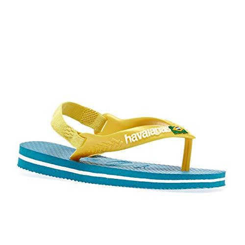 Havaianas Baby Brasil Logo Ii, Sandales Mixte bébé Bleu (Turquoise) 23/24 BR 25/26 EU