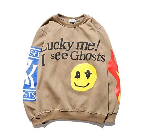 Z-TON 2020 Kanye Lucky Me I See Ghosts Sweatshirt Hip Hop Hoodies Pullover Sweater für Damen und Herren