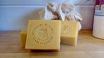 Savon à l'Immortelle de Corse - Savon artisanal saponifié à froid - surgras - Confectionné en Corse avec des huiles...