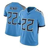 WHUI Jersey Henry Rugby 22#, Sportswear de Remise en Forme extérieure Respirante, T-Shirt à Maille à séchage Rapide Blue-S