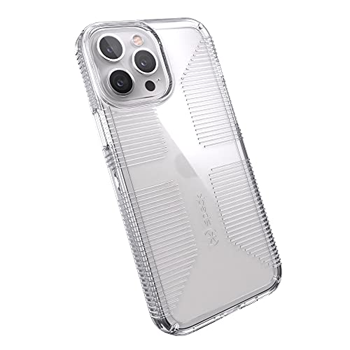 Speck Products GemShell Grip iPhone 13 Pro Max/iPhone 12 Pro Max Case, Clear/Clear