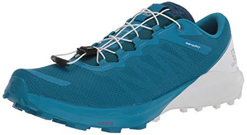 SALOMON Shoes Sense, Zapatillas de Running para Hombre, Azul (Fjord Blue/White/Icy Morn)