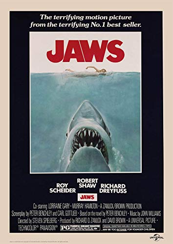 Poster Affiche Jaws Vintage Movie by Steven Spielberg