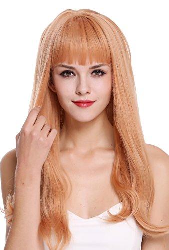 WIG ME UP - DL047-1344 Parrucca donna Lunga Liscia Punte ondulate Biondo rossiccio Rosso chiaro Rosso-arancione