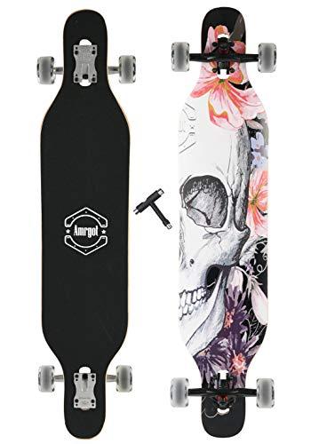 WiiSHAM Longborads Skateboards 42 inches Complete Drop Down Through Deck Cruise Professional Longboard (38)