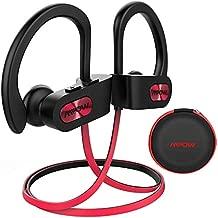 Mpow Flame Bluetooth Headphones W/Case, BT5.0 IPX7 Sweatproof Wireless Earphones W/Richer Bass, 8H Playtime, Wireless Headphones W/CVC6.0 Noise Cancellation Mic, Bluetooth Earphones, Red