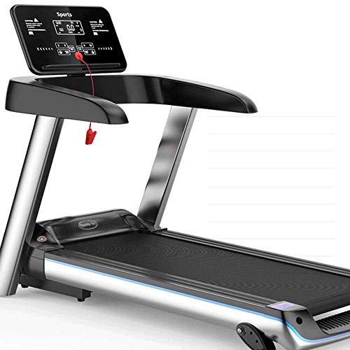 WJFXJQ Cinta de Correr, Fitness caminadora eléctrica Plegable, Pantalla LCD y Altavoces Bluetooth, Máximo Load 120 Kg, Densidad amortiguadora de Golpes Rsoft Estribo