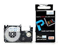 カシオ ネームランド用 互換 テープカートリッジ 24mm XR-24WEB 白地青文字