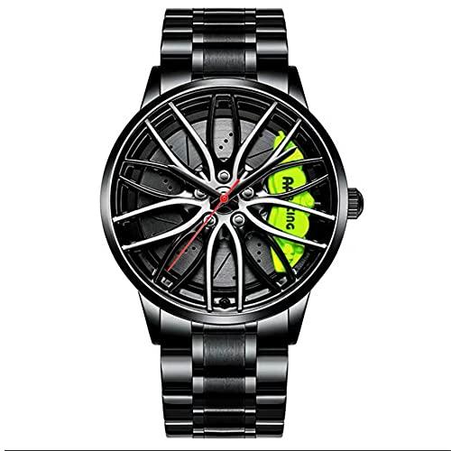 STST Los nuevos Relojes para Hombre, Resistente al Agua, Movimiento de Cuarzo japonés, Deportes acuáticos, Rueda, Cubo, Reloj Deportivo,Verde
