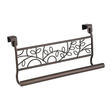 InterDesign Twigz Over-the-Cabinet Kitchen Dish Towel Bar Holder - 9 , Bronze