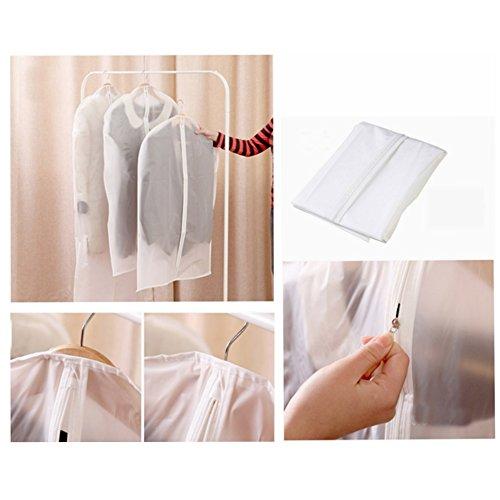 Lavable en machine robe manteau pour femme Transparent Vêtements Vêtements Housse de protection sac de rangement, CL