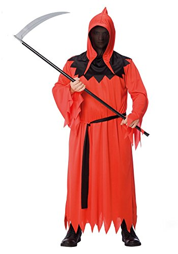 Costume Monstre Faucheur - Deguisement Halloween - Noir Rouge - 159