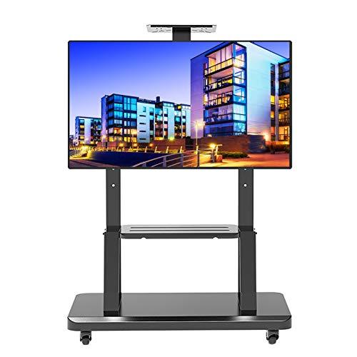 Soporte TV Móvil Soporte/Carro para TV de 40-75 Pulgadas con Ruedas, Carrito de TV para Sala de Juntas para LED LCD OLED Televisores de Plasma, Capacidad de Carga 150 Kg
