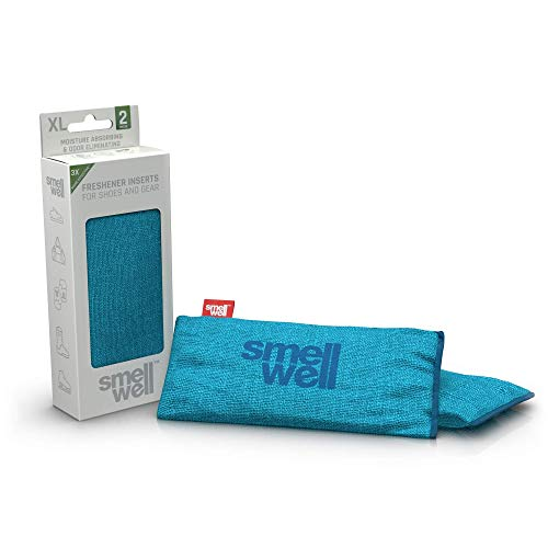 SmellWell XL Sensitive Odor Eliminator + Shoe deodorizer (2 Pack, 250g) Activated Bamboo Charcoal + Minerals - Air Purifying Bags - Natural Freshener Inserts for shoes, boots, bags, cars and more