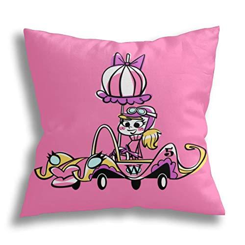 HCLIFE-Penelope Pitstop - Federa decorativa per cuscino con federa per cuscino quadrata, per divano letto, 45 x 40 cm
