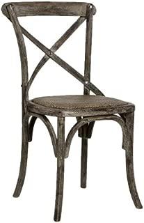 Zentique Parisienne Cafe Chair, Limed Charcoal Oak
