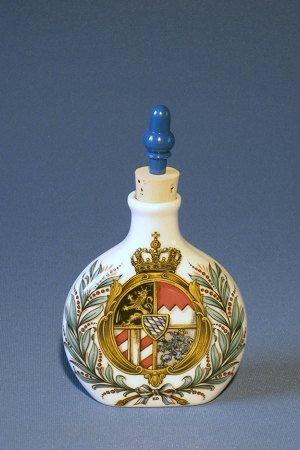 Zimmermann Schnupftabakflasche klein mit Stöpsel Wappen bayrisch