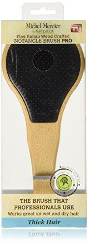 Michel Mercier cepillo para el cabello, de madera, de desenredar, adecuado para el cabello grueso