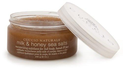 CUCCIO NATURALE MILK & HONEY EXFOLIATING SEA SALTS 240g (8oz) by BEAUTY-SALE