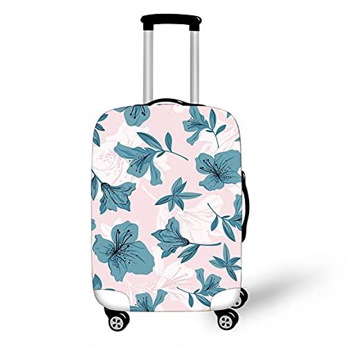 Surwin 3D Cubierta de Equipaje Protectora Suave Elástico Anti-Polvo Lavable Funda de Maleta Luggage Cover con Cremallera Viaje Cubierta de la Caja (Magnolia,XL (30-32 Pulgadas))