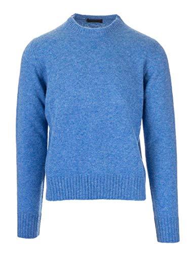 Luxury Fashion | Prada Heren UMA110S13234VF0013 Blauw Wol Truien | Herfst-winter 19