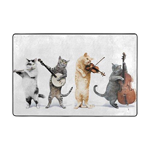Free Simple Gratis einfach Cat Band Gebiet Teppiche 2'x3' Fußmatte für Home Decor Bunte für Room Decor für Kinder Zimmer der, Polyester, weiß, 2'x3'