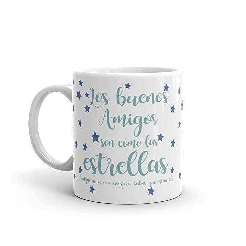 Kembilove Taza de Desayuno para Amigos – Taza de Amigo Ideal para Regalar Amigo Invisible, Cumpleaños – Taza de Cerámica Original