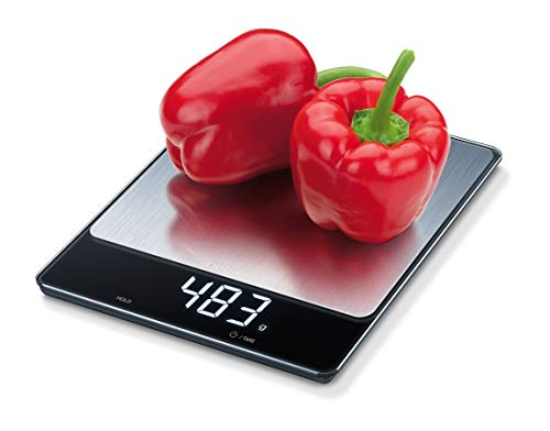 Beurer KS34 Digital Kitchen Food Scale, Garden Scale, Nutrition Scale, Precise Weight Measuring in Ounces & Grams up to 33 lbs, Magic Digital Display, Easy to Clean, Batteries Included