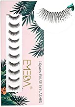 Fake Eyelashes Natural Look Wispies eyelash 3D False Lashes Small Face Eyelashes Short Soft Reusable Transparent Band Eye Lash 1 Pack with Applicators (10 Pairs)