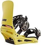 BURTON Cartel X Mens Snowboard Bindings Sz L (10+) Yellow