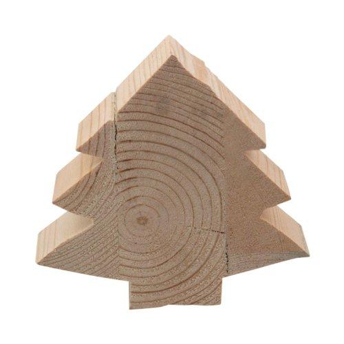 Videx Deko-Holzfigur, Tannenbaum, ca. 13x13cm, 4 cm stark